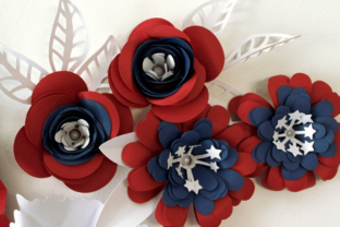 3D 4th of July Paper Flowers 3D SVG Craft Cut File By Creative Fabrica Crafts 5