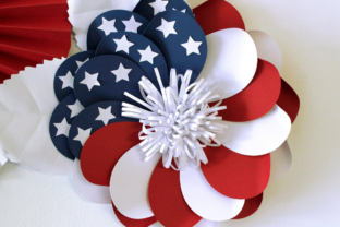 3D 4th of July Paper Flowers 3D SVG Craft Cut File By Creative Fabrica Crafts 6