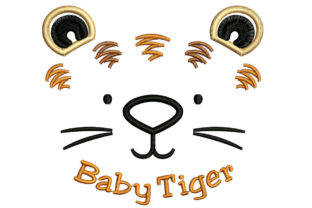 Print on Demand: Baby Tiger Face Wild Animals Embroidery Design By litcyz