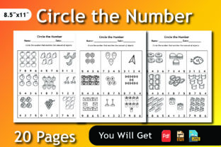 Print on Demand: Circle the Number Math's Worksheet Graphic Teaching Materials By bengalcanvas