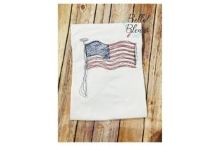 Flag Independence Day Embroidery Design By Bella Bleu Embroidery