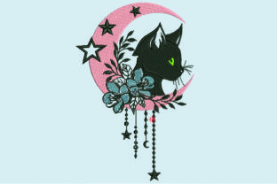 Print on Demand: Floral Cat Cats Embroidery Design By Samsul Huda