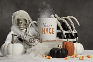Halloween Spooky Coffee Cup Mockup Graphic Product Mockups By Mockup Central