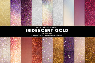 Print on Demand: Iridescent Background, Iridescent Graphic Backgrounds By The Rose Mind