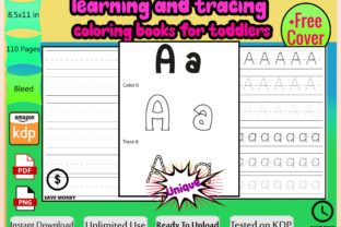 Print on Demand: Learning & Tracing Coloring Books KDP Graphic KDP Interiors By Funnyarti