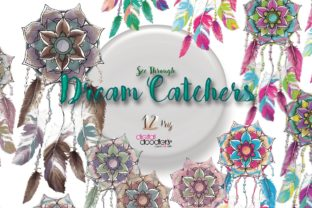 Print on Demand: Mandala Inspired Dreamcatchers Graphic Illustrations By Digital Doodlers