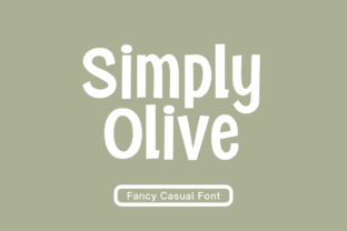 Print on Demand: Simply Olive Display Font By nhfonts