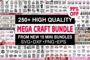 Print on Demand: The Mega Craft Bundle Graphic Crafts By Designdealy