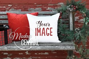 White Square Mockup Christmas Pillow Graphic Product Mockups By Mockup Central