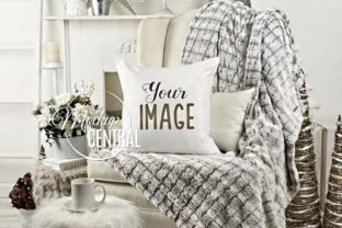 Winter Chair Mockup Christmas Pillow Graphic Product Mockups By Mockup Central