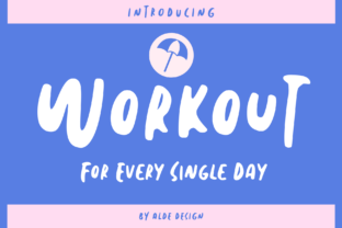 Print on Demand: Workout Display Font By aldedesign
