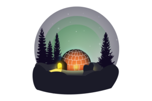 About 3d Igloo House at Night Graphic 3D Houses By freelancerfataher