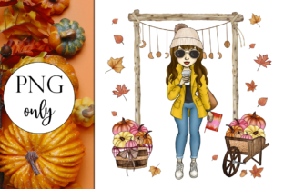 Autumn Coffee Girl Graphic Illustrations By Dark Carnival