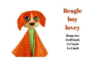 Beagle Boy Lovey Dogs Embroidery Design By Garden of designs