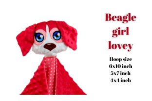 Beagle Girl Lovey Dogs Embroidery Design By Garden of designs