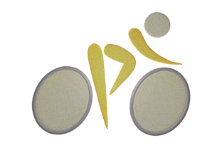 Print on Demand: Bike Athlete Hobbies & Sports Embroidery Design By embroidery dp