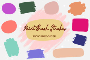 Brush Stroke Paint Clipart Keychain Graphic Illustrations By join29design