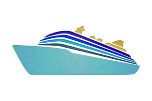 Print on Demand: Cruise Ship Travel & Season Embroidery Design By embroidery dp