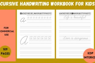 Print on Demand: Cursive Handwriting Workbook for Kids Graphic KDP Interiors By Cool Worker