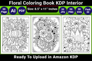 Print on Demand: Floral Coloring Book KDP Interior Graphic Coloring Pages & Books Adults By KDP Coloring Book