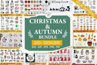 HUGE Christmas and Autumn Bundle SVG Graphic Crafts By redearth and gumtrees 1