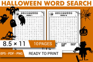 Print on Demand: Halloween Word Search Activity Book KDP Graphic KDP Interiors By KDP INTERIOR DESIGN