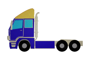 Print on Demand: Heavy Truck Travel & Season Embroidery Design By embroidery dp