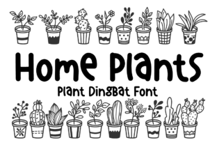 Print on Demand: Home Plants Dingbats Font By Letterayu