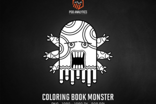 Print on Demand: KDP Coloring Book Monster Graphic Illustrations By eichgr