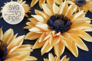 Large Paper Sunflower Template Graphic 3D Flowers By Deaney Weaney Blooms