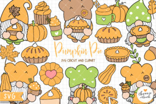 Print on Demand: Pumpkin Pie Gnomes SVG, Fall Gnomes Graphic Illustrations By Chonnieartwork
