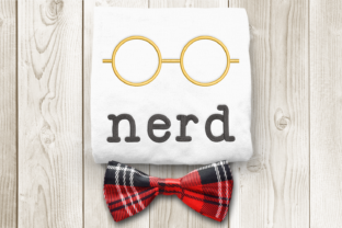 Round Nerd Glasses Back to School Embroidery Design By DesignedByGeeks