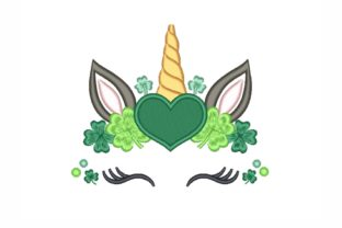 Saint Patrick's Day Unicorn St Patrick's Day Embroidery Design By NinoEmbroidery