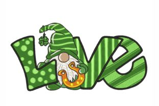St. Patricks Day Gnome St Patrick's Day Embroidery Design By NinoEmbroidery