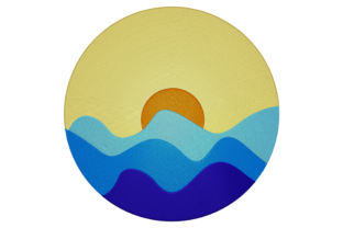 Print on Demand: Sunrise over the Sea Travel & Season Embroidery Design By embroidery dp