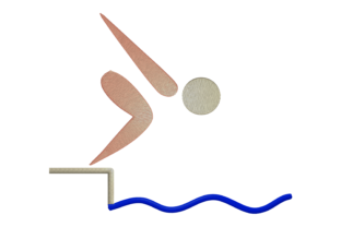Print on Demand: Swimming Athlete Hobbies & Sports Embroidery Design By embroidery dp