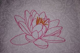 Water Lily Single Flowers & Plants Embroidery Design By Carol Undy