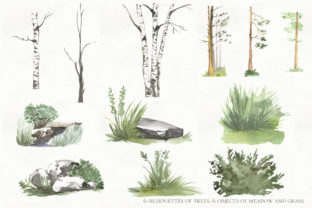 Print on Demand: Woodland Animal Watercolor Graphic Illustrations By laffresco04 10