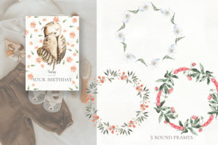 Print on Demand: Woodland Animal Watercolor Graphic Illustrations By laffresco04 13