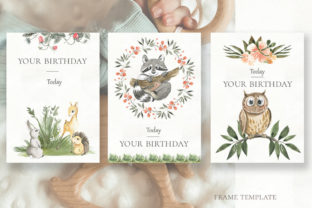 Print on Demand: Woodland Animal Watercolor Graphic Illustrations By laffresco04 14