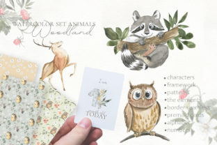 Print on Demand: Woodland Animal Watercolor Graphic Illustrations By laffresco04 15