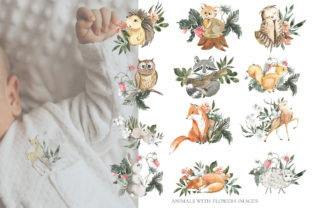Print on Demand: Woodland Animal Watercolor Graphic Illustrations By laffresco04 2