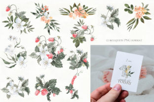 Print on Demand: Woodland Animal Watercolor Graphic Illustrations By laffresco04 9