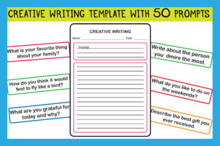 Print on Demand: 50 Creative Writing Prompts for Kids Graphic Teaching Materials By kidobolt