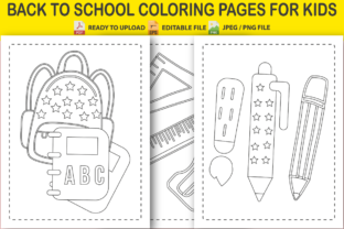 Back to School Coloring Pages for Kids Graphic Coloring Pages & Books Kids By Pro Designer