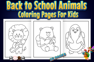 Print on Demand: Back to School Animals Coloring Book Graphic Coloring Pages & Books Kids By Kristy Coloring