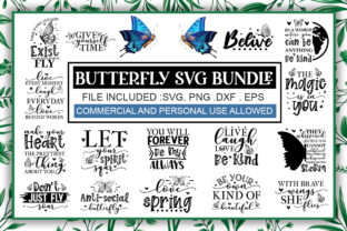 Print on Demand: Butterfly SVG Bundle Graphic Crafts By PrintableSvg
