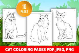 Cat Coloring Pages for KIds (KDP) Graphic Coloring Pages & Books Kids By GRAPHICSMINE