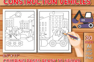 Print on Demand: Construction Vehicles Coloring Pages Graphic Coloring Pages & Books Kids By Simran Store
