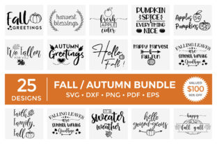 Fall / Autumn SVG Bundle Vol.1 Graphic Crafts By CraftlabSVG